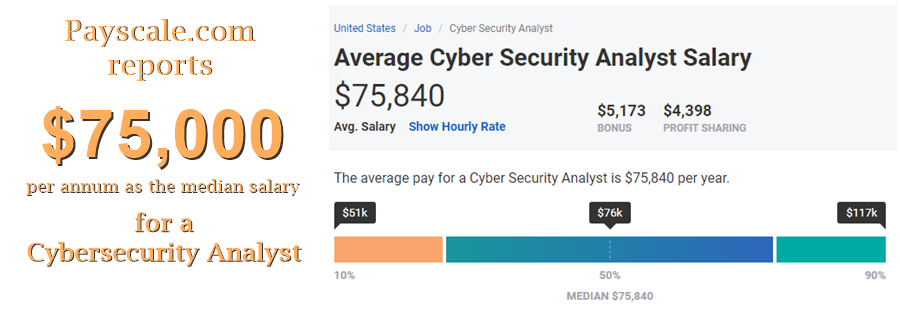 Salary of Cyber Securit Analyst