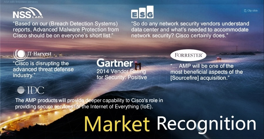 Cisco Market Recognition