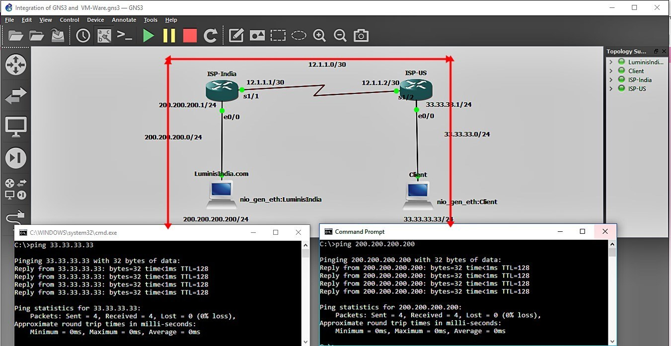 Integration of GNS3 with VMWare 24