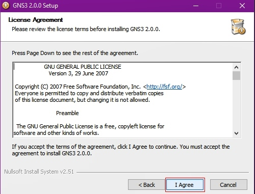 License Agreement GNS3 version 2.0.0