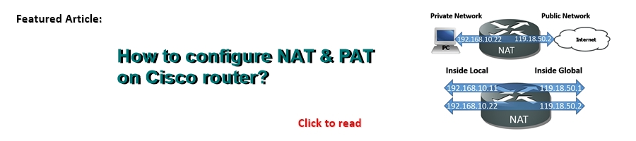 Featured NAT PAT Configuration