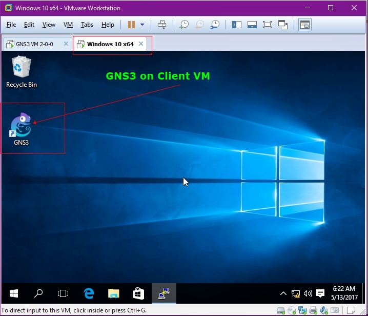 GNS3 On Client VM